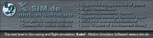 X-Sim Motion Software banner